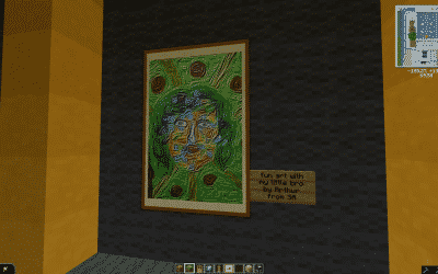 A real paintings coming from South Africa in Minecraft