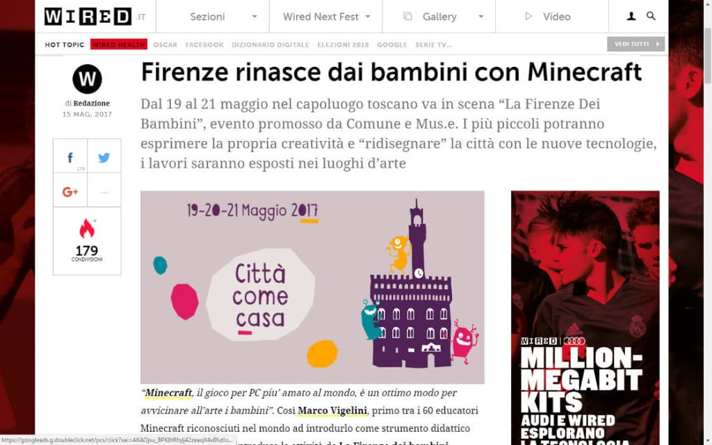 Wired Minecraft Marco Vigelini Firenze