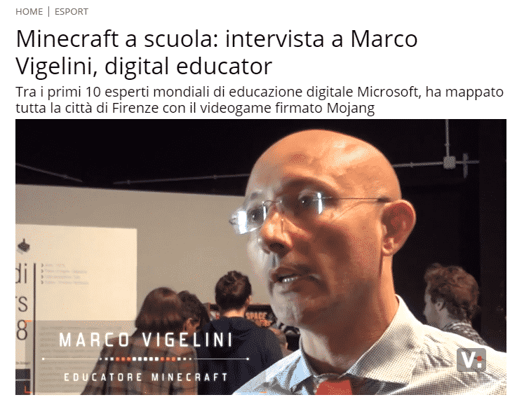 Virgilio.it intervista Marco Vigelini su Minecraft