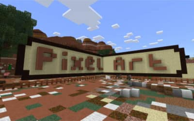 Pixel Art in Minecraft