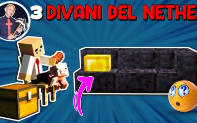 COME FARE 3 DIVANI SU MINECRAFT CON I BLOCCHI DEL NETHER UPDATE (PS4 SWITCH XBOX PE BEDROCK JAVA)
