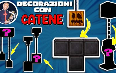 COME FARE ED USARE LE CATENE SU MINECRAFT PER DECORAZIONI (PS4 SWITCH XBOX PE BEDROCK JAVA)