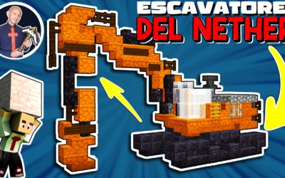 COME COSTRUIRE UN ESCAVATORE GRANDE SU MINECRAFT (PS4 SWITCH XBOX PE BEDROCK PS5 JAVA)