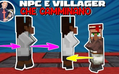 COME FAR CAMMINARE GLI NPC (o i VILLAGER) SU MINECRAFT (PE PS4 SWITCH XBOX BEDROCK)