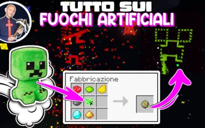 COME FARE I FUOCHI D'ARTIFICIO SU MINECRAFT CREEPER COLORATI ED ARCOBALENO (PS4 SWITCH XBOX PE)
