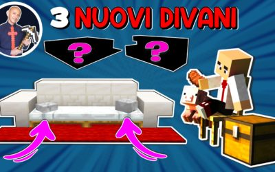 INTERNI MINECRAFT: 3 NUOVI DIVANI CON I BLOCCHI DEL NETHER UPDATE (PS4 SWITCH XBOX PE BEDROCK JAVA)
