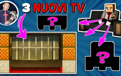 COME FARE UN TELEVISORE SU MINECRAFT (PS4 SWITCH XBOX PE BEDROCK PS5 FUNZIONANTE JAVA)