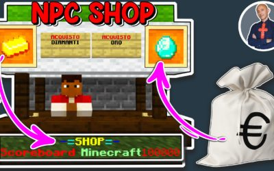 COME FARE UNO SHOP MINECRAFT CON GLI NPC (NEGOZIO SU MINECRAFT PE PS4 XBOX SWITCH BEDROCK)