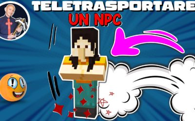 COME TELETRASPORTARE UN NPC SU MINECRAFT (PE PS4 SWITCH XBOX BEDROCK PS5)